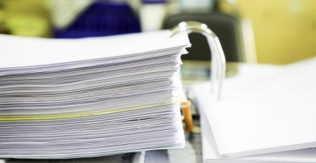 A File Folder With Documents And Documents. Retention Of Contrac